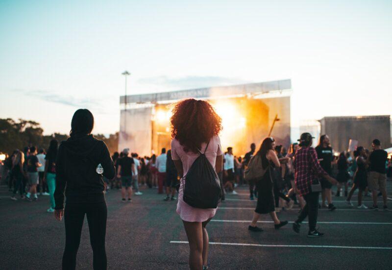 Girl at music festival